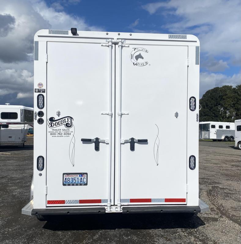2019 Trails West Classic 10x10 LQ - Side Tack - 2 Horse Living Quarters Trailer
