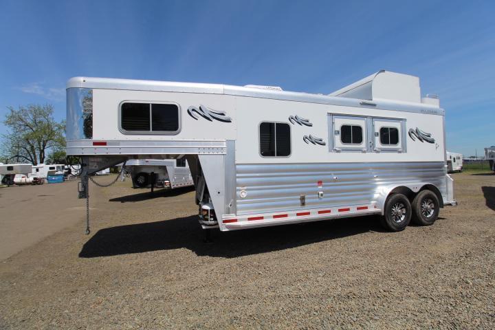 "2021 Platinum Coach 6'8"" Outlaw Proline 2H LQ-Hay Pod-Gen Prepped Horse Trailer"