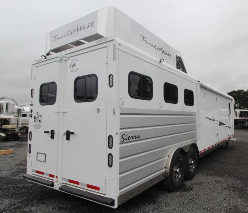 2020 Trails West Sierra 15x19 3 Horse Trailer - Easy Care Flooring - Fold Down Bunk Bed - Hayrack - Generator Ready - Hoof Grip Flooring PRICE REDUCED $1495