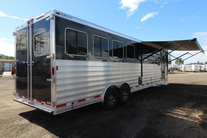 2017 Exiss Endeavor 8414 Glide B - All Aluminum - Escape Door - Stud Panel - Mangers - Easy Care Flooring - 4 Horse Trailer PRICE REDUCED $10000!