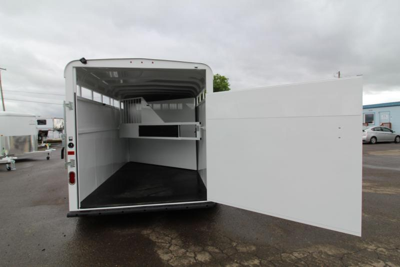 2020 Thuro-Bilt Wrangler 2H Horse Trailer-Swing Out Saddle Rack-Swinging Tack Wall