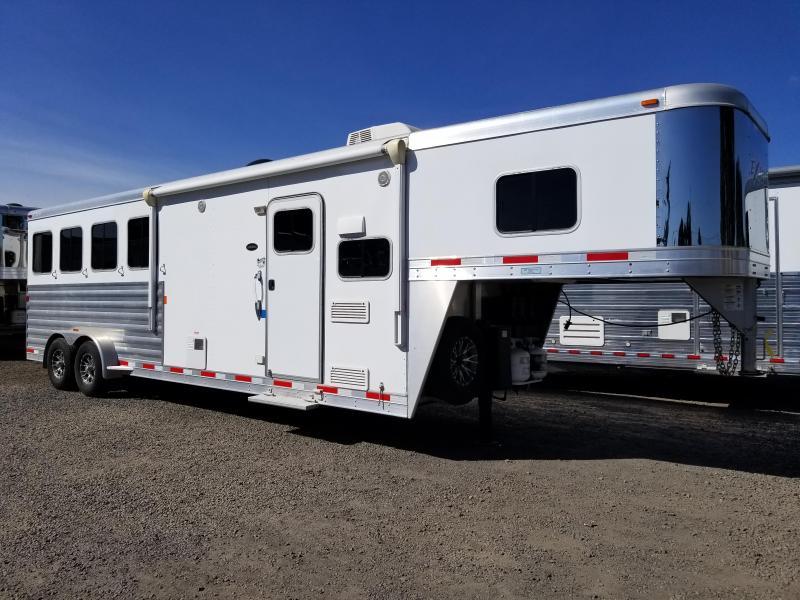 2016 Exiss 7408 - 8ft Short Wall Living Quarters 4 Horse Trailer