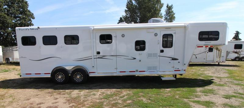 2020 Trails West Classic 10x10 LQ 3 Horse Trailer - Slide Out - Side Tack - Power Awning