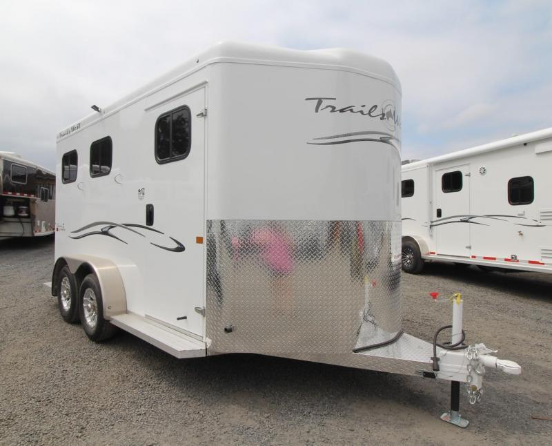 "2020 Trails West Classic Warmblood 7'6"" Tall 2 Horse Trailer - Convenience Package - Swinging Saddle Rack"