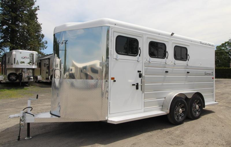 2020 Trails West Sierra II 3 Horse Trailer - Insulated Horse Area - Escape Door - Extruded Aluminum Exterior PRICE REDUCED $295