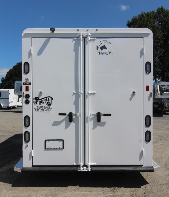 "2020 Trails West Classic II Warmblood 7'6"" Tall 2 Horse Trailer - Aluminum Skin Steel Frame Lined & Insulated Roof"