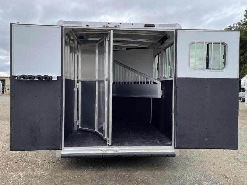 2022 EXISS 720 Bumper Pull - Collapsible Rear Tackroom - Easy Care Floor - Drop Down Windows & Bars - Aluminum Air Flow Dividers