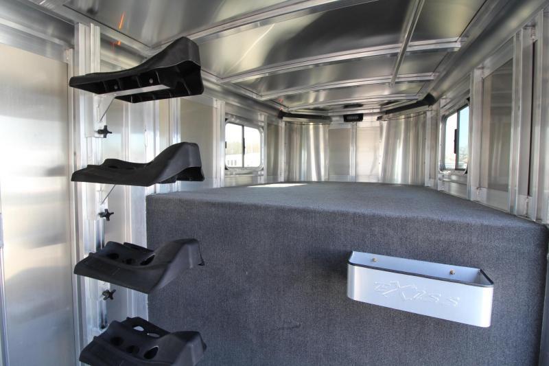 2021 EXISS EXPRESS XT 4 HORSE ALUMINUM TRAILER - EASY CARE FLOORING