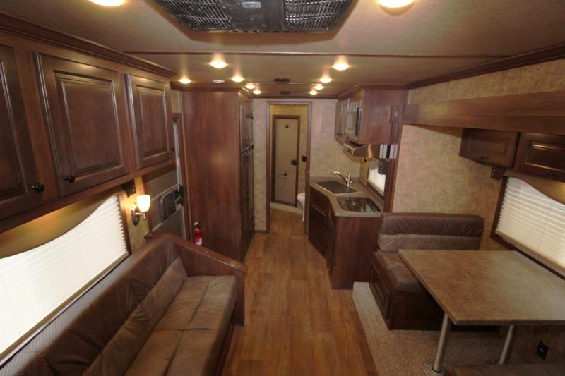 NEW 2019 Exiss 8314 - 3 Horse 14' Short Wall Living Quarters w/ Slide-out - All Aluminum - Power Awning - Mangers - Easy Care Flooring - Lined and Insulated Horse Area Ceiling  PRICE REDUCED $6000