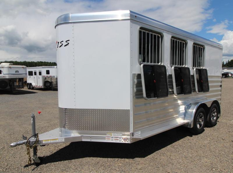 2021 Exiss Trailers EXPRESS 3 Horse BP - XT - EASY CARE FLOORING - WINDOWS WITH SCREEN & BARS
