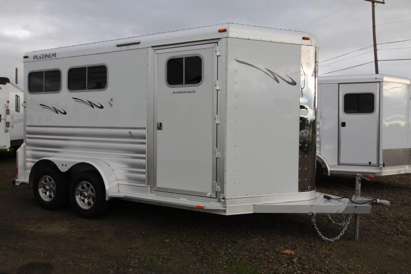 2021 Platinum Warmblood Slant Load 2 Horse Trailer-Easy Care Flooring