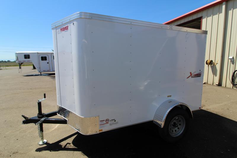 2020 Mirage Xpres 5x8 Enclosed Cargo Trailer - Single Axle - Rear Ram Door