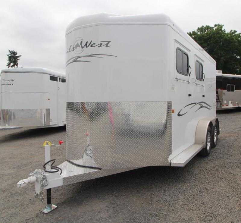 "2020 Trails West Classic Warmblood 7'6"" Tall 2 Horse Trailer - Convenience package - Swing out saddle rack - Drop down feed doors"