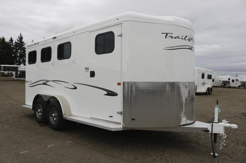 2022 Trails West Classic 3 Horse Bumper Pull - Water Tank - Swing Out Saddle Rack - Aluminum Airflow Dividers - Drop Down Windows & Bars - Spare Tire - LED Load Lights