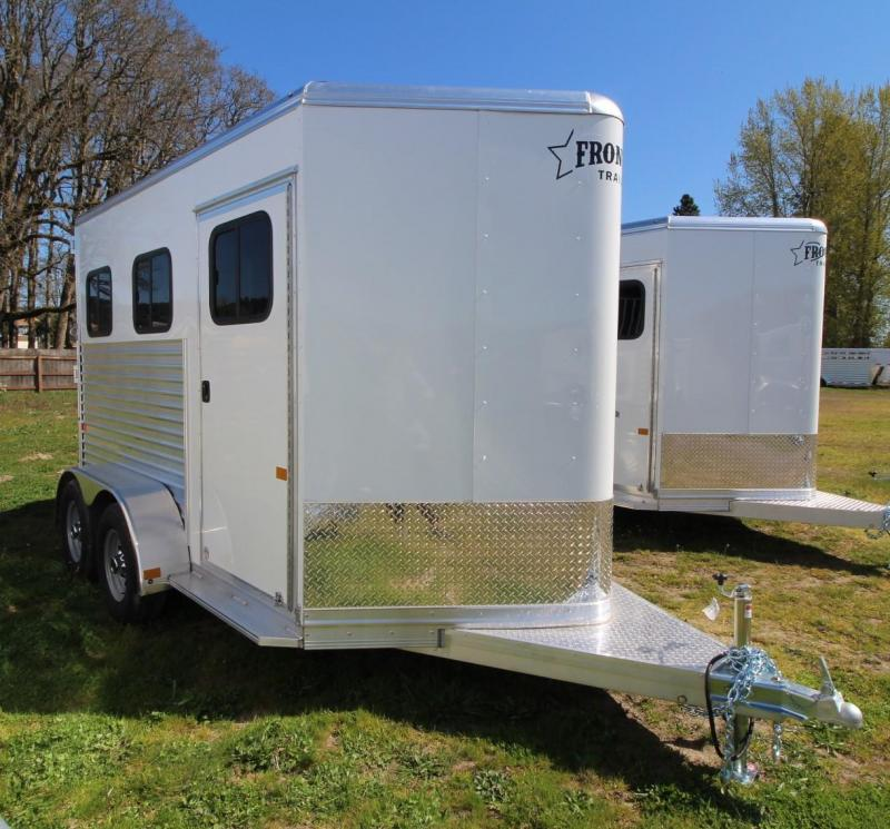 2021 Frontier STRIDER 2 HORSE TRAILER - DROP DOWN WINDOWS-EXTRUDED SIDE PANELS Horse Trailer