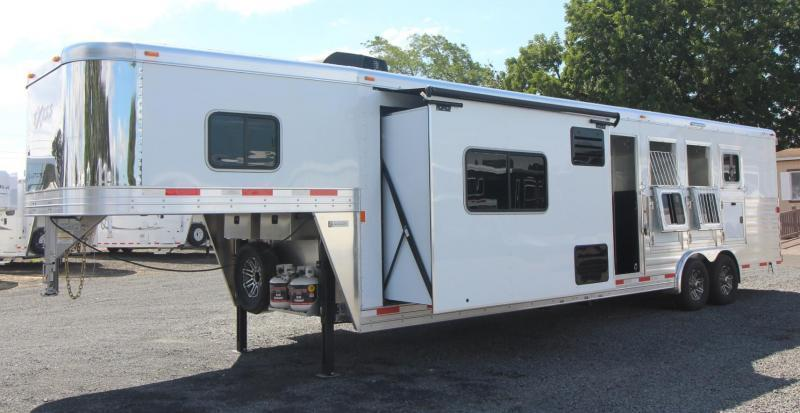 2019 Exiss 8412 w/ Slide - 4 Horse Living Quarters Trailer - Easy Care Flooring - All Aluminum - Insulated Ceiling - Upgraded Interior - PRICE REDUCED $6800