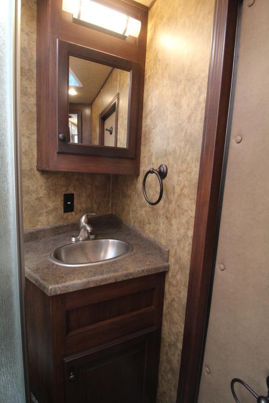 2019 Exiss 8412 w/ Slide - 4 Horse Living Quarters Trailer - Easy Care Flooring - All Aluminum - Insulated Ceiling - Upgraded Interior - PRICE REDUCED $6800