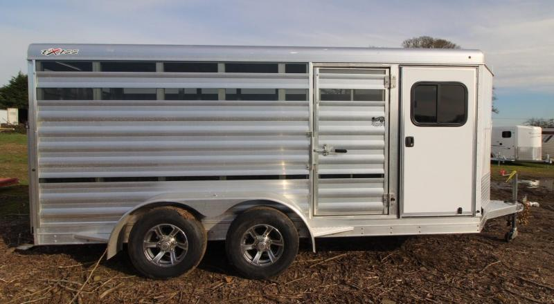 "2021 Exiss EXHIBITOR MINI COMBO LIVESTOCK TRAILER 615A BP 6'2"" TALL -AIR GAPS"