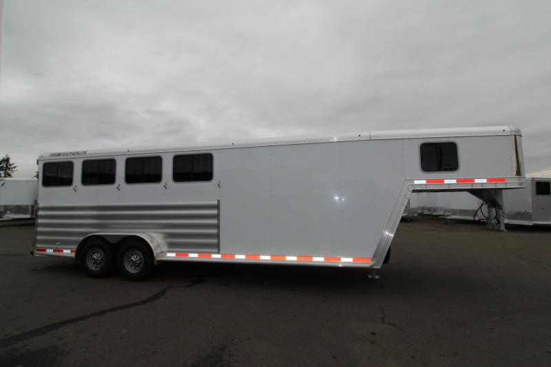 NEW 2019 Featherlite 8542 Legend Series - All Aluminum - 4 Horse Trailer - 7' Tall and Wide - Folding Rear Tack - PRICE REDUCED