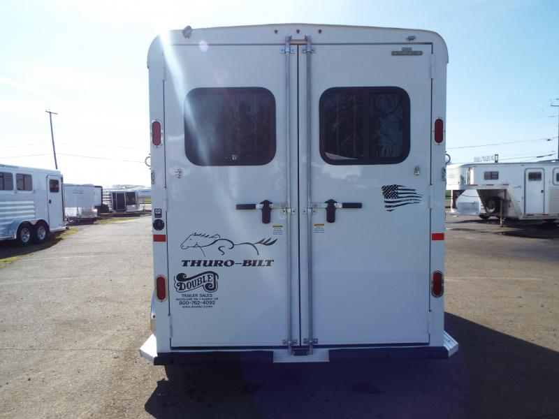2020 Thuro-Bilt 2 Horse Liberty Horse Trailer- Warmblood Sized Stalls - Swing Out Saddle Rack - Water Tank