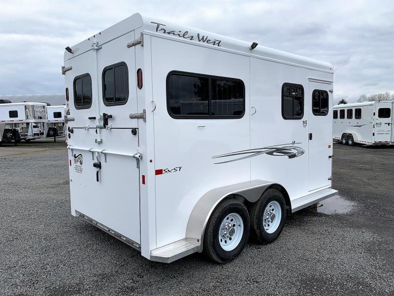2020 Trails West Royale SxS Tack Room Conv. Pkg 2 Horse Trailer
