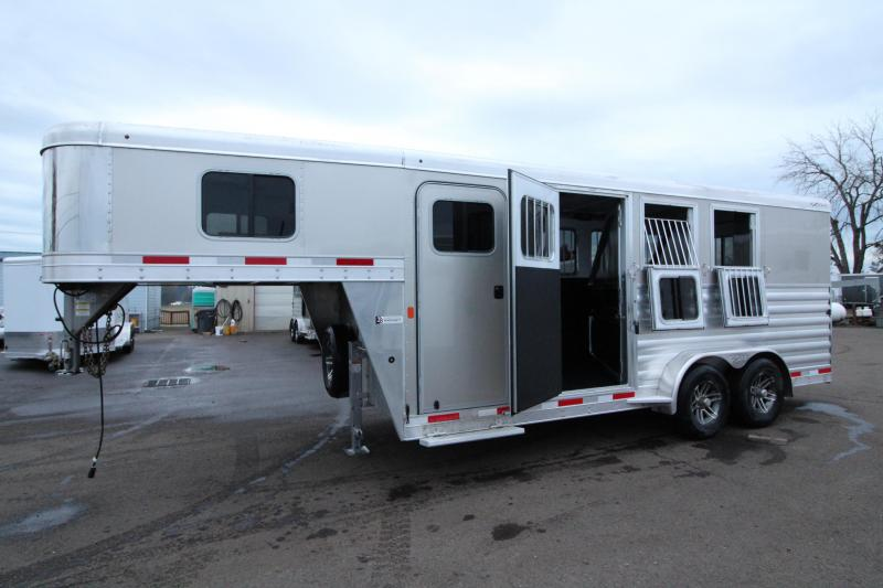 2020 Exiss 7300 - 3 Horse Trailer - All Aluminum Construction - Easy Care Flooring - Collapsible Rear Tack