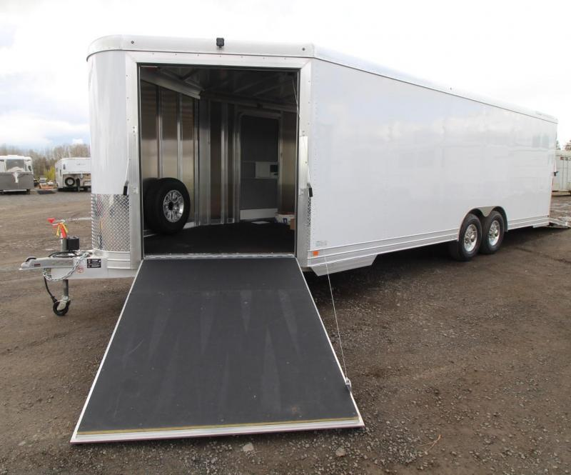 NEW Featherlite 4926 - All Aluminum V-nose w/ Front Ramp & Rear Ramp - Car Quad or Snowmobile Trailer w/ Nudo Flooring PRICE REDUCED $4050