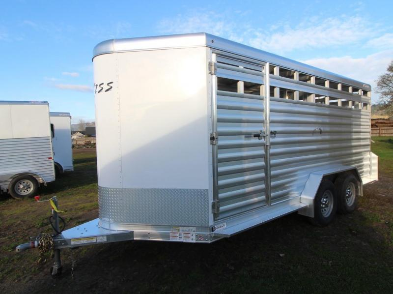 "2021 Exiss Trailers STOCK 716 -16' BP-7'2"" TALL -CENTER GATE Livestock Trailer"