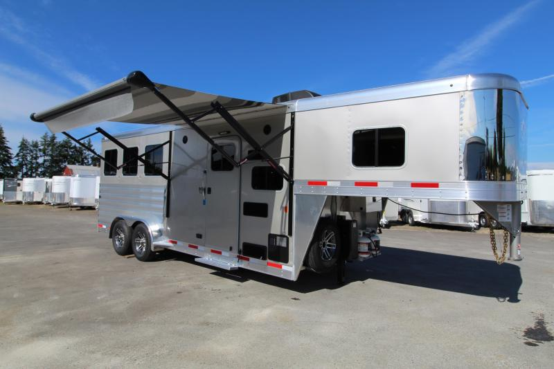 2021 Exiss 7306 LQ Horse Trailer Easy care flooring All aluminum construction