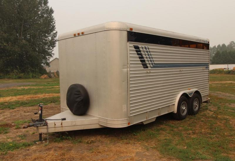 1988 Featherlite STOCK TRAILER 8 WIDE Livestock Trailer
