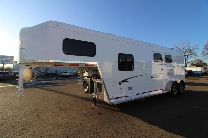 2020 Trails West Classic 2 Horse 7' x 7' Weekender Horse Trailer - Hoof Grip Easy Care Flooring - Side Tack- Swing Out Saddle Rack - Furnace and A/C! - PRICE REDUCED