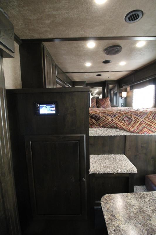2019 Featherlite 9821- 17ft w/ Slide - BELOW COST! - All Aluminum - GENERATOR - 4 Horse Living Quarters Trailer - Haypod & More! PRICE REDUCED $15000