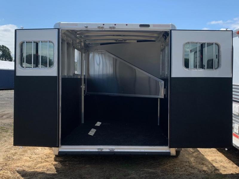 2020 Exiss Express 2 Horse Trailer - Easy Care Flooring -  All Aluminum Construction - Single piece roof - Spare tire and mount