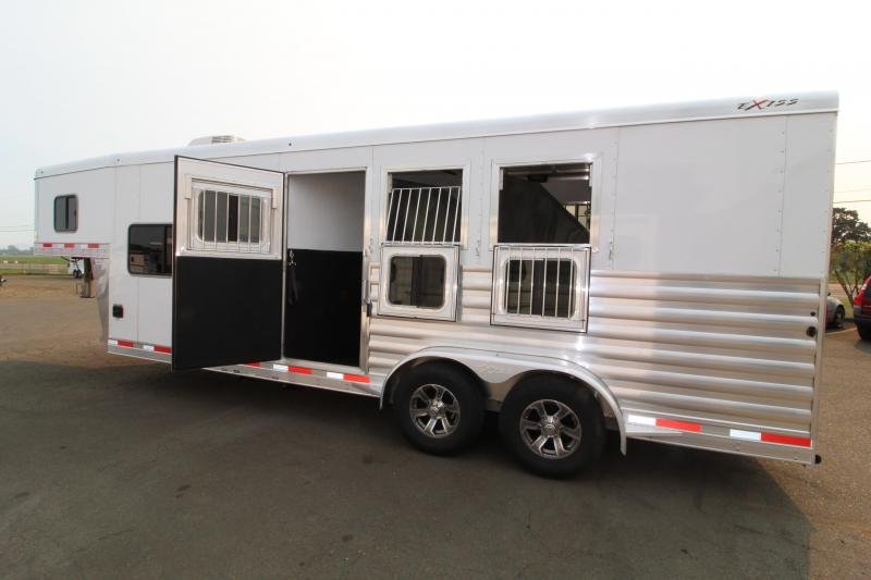 2021 Exiss 7308 Horse Trailer 8 Short Wall 3 Horse Trailer Easy Care Flooring