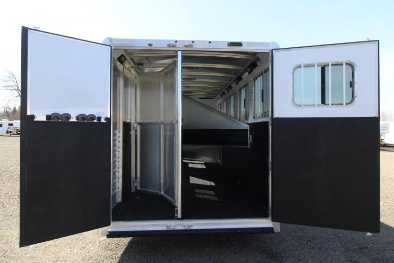 2021 Exiss 7500 5 HORSE TRAILER - GOOSENECK - EASY CARE FLOOR - STUD PANEL - REAR TACK - LARGE DRESSING ROOM