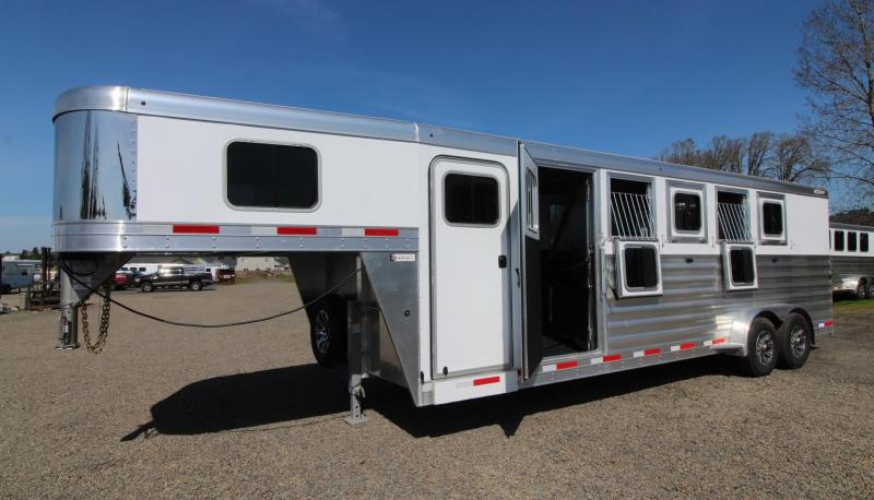 2021 Exiss 7500 5 HORSE TRAILER - GOOSENECK - EASY CARE FLOOR - STUD PANEL - REAR TACK - LARGE DRESSING ROOM