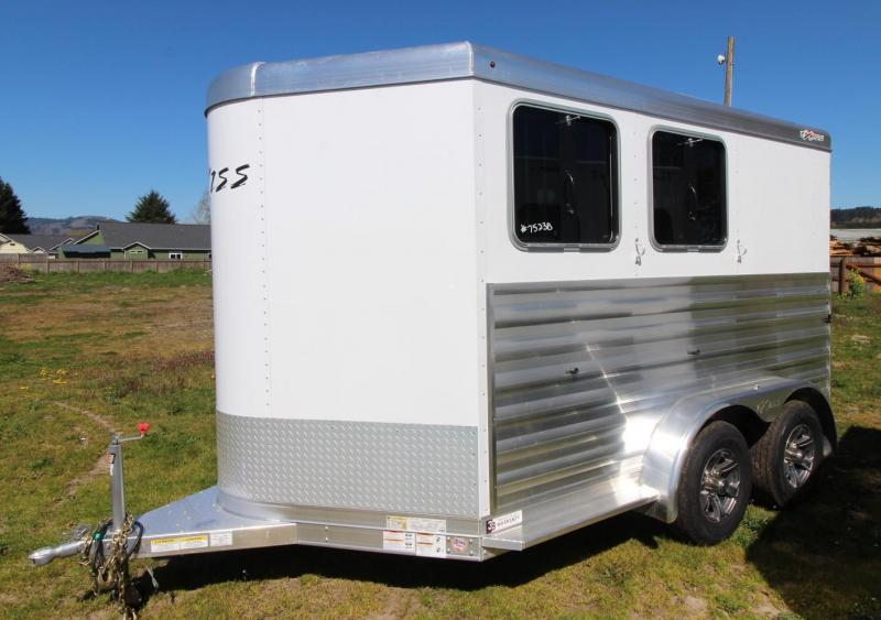 2021 Exiss EXPRESS XT 2 HORSE TRAILER - EASY CARE FLOORING