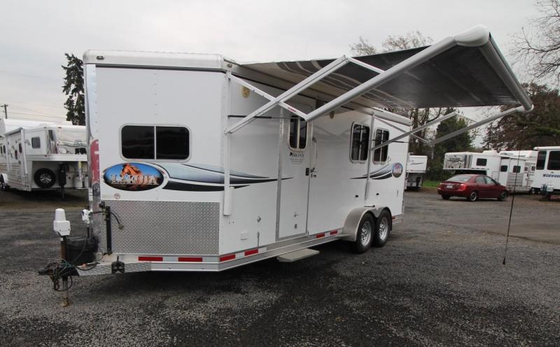 2008 Lakota 2 HORSE LIVING QUARTERS TRAILER  - SLIDE-OUT - POWER AWNING