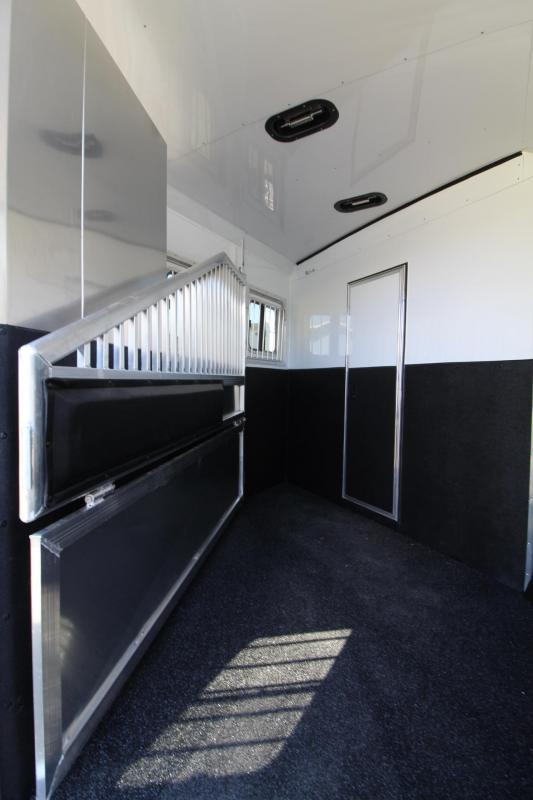 2021 Exiss Trailers ESCAPE 2 HORSE TRAILER - 10' SW - EASY CARE FLOOR - LINED AND INSULATED