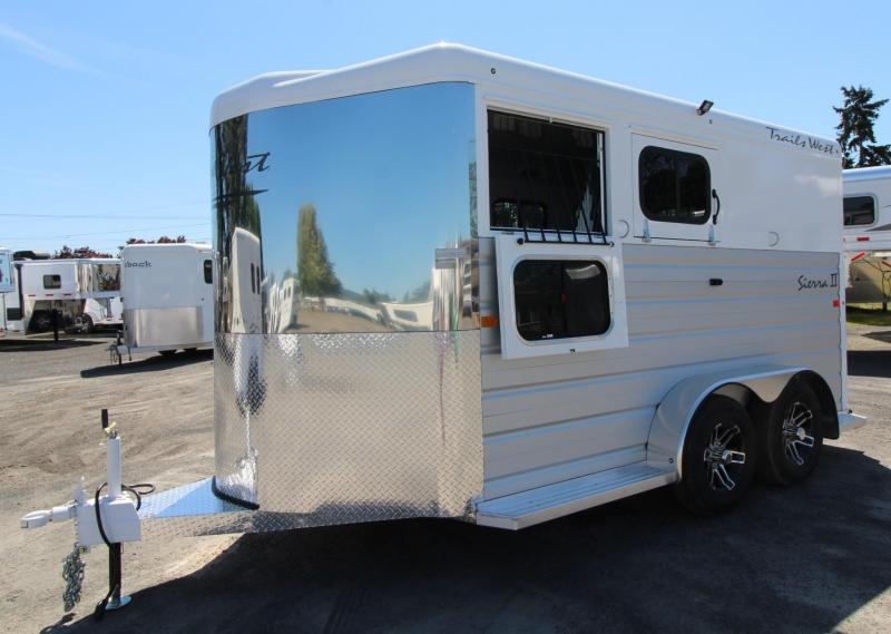 2020 Trails West Sierra II - Insulated horse area  2 Horse Trailer