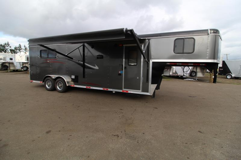 2021 Bison 3 Horse 10' Short Wall Quickdraw Horse Trailer