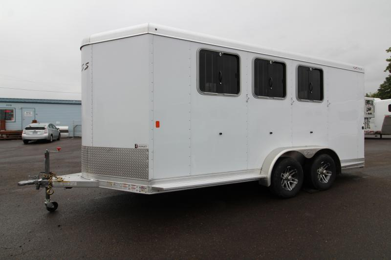 2020 Exiss 730 - 3 Horse Trailer - Easy Care Flooring - White Exterior - All Aluminum Construction - Large Front Tack Room - Folding Rear Tack PRICE REDUCED