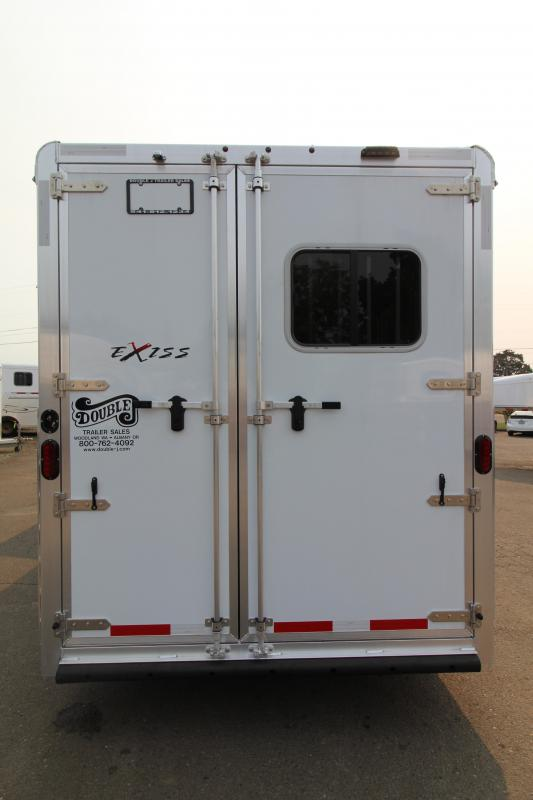 2021 Exiss 7310 Living Quarters 10 SW Slide Out 3 Horse Trailer