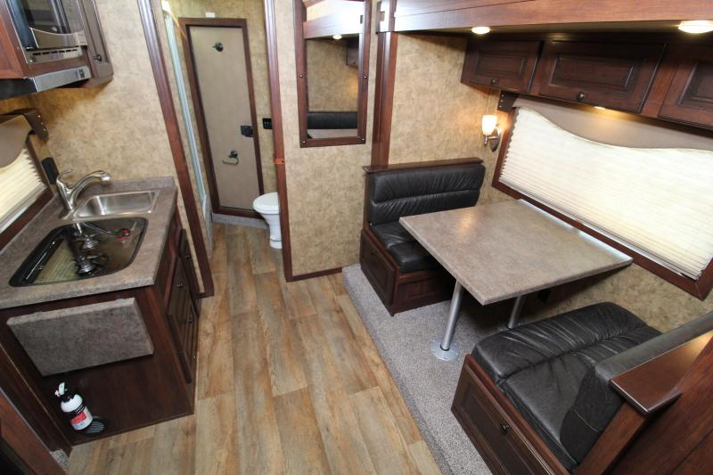 2021 Exiss Trailers Escape 7310 LQ Horse Trailer w/ Slide Out and Electric Awning