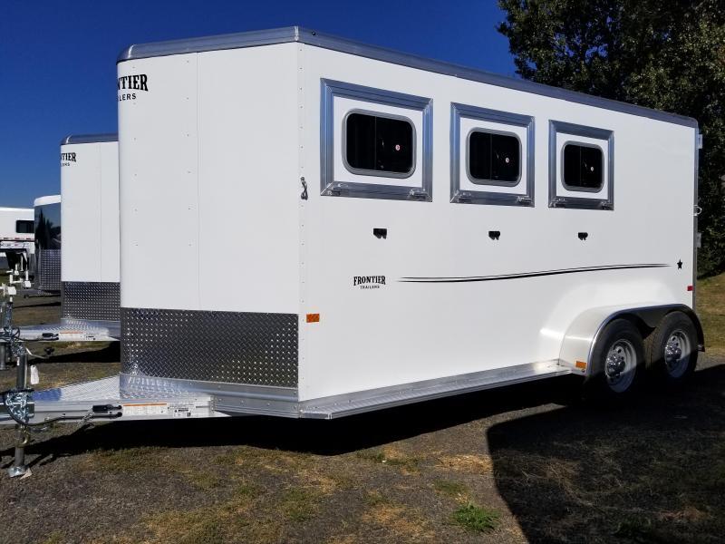 2022 Frontier Strider 3 Horse Aluminum Trailer