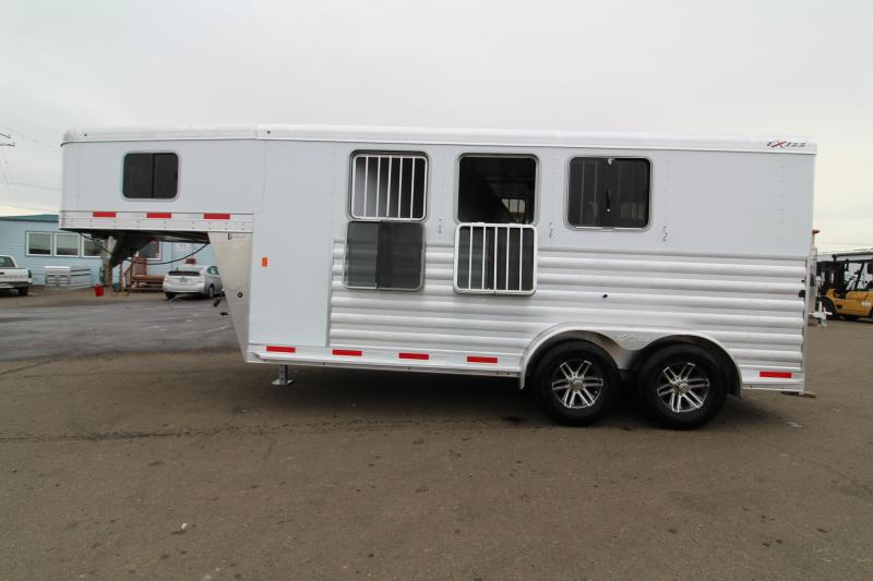 2020 Exiss Express XT Horse Trailer - Drop Down Feed Windows -  All Aluminum Construction - LED Load Lights - Double Rear Doors
