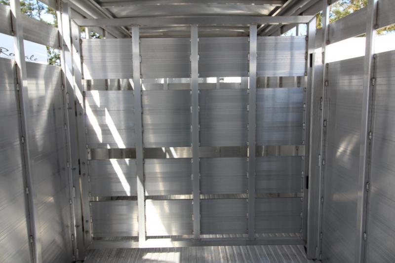 NEW 2019 Featherlite 8107 - 16' Bumper Pull Stock Trailer - All Aluminum - Slider in Rear Gate - Solid Center Gate - 7' Tall