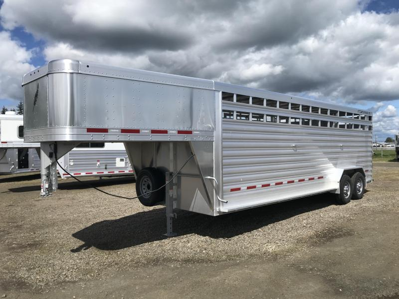 2021 Featherlite 8127 24' Stock Livestock Trailer