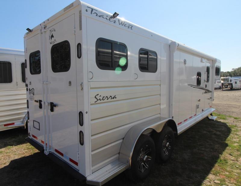2020 TRAILS WEST SIERRA LQ 10X15 - 2 HORSE - FOLD UP REAR TACK - MANGERS - CONVENIENCE PACKAGE - PASS THRU DOOR - POWER AWNING