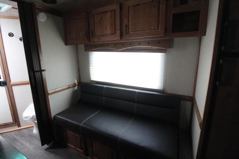 USED 2020 TRAILS WEST SIERRA LQ 10X15 - 2 HORSE - FOLD UP REAR TACK - MANGERS - CONVENIENCE PACKAGE - PASS THRU DOOR - POWER AWNING